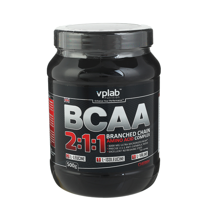 Аминокислоты BCAA 2:1:1 VPLab, вишня, 500 г