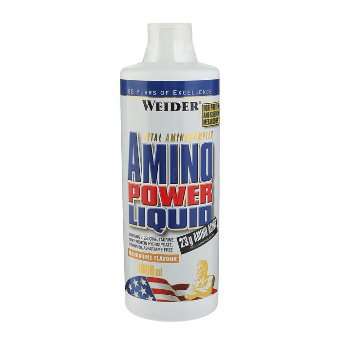 Аминокислоты Weider Amino Power Liquid, мандарин, 1000 мл
