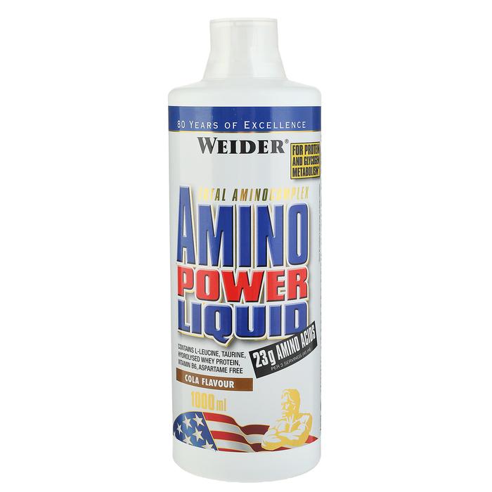 Аминокислоты Weider Amino Power Liquid, кола, 1000 мл
