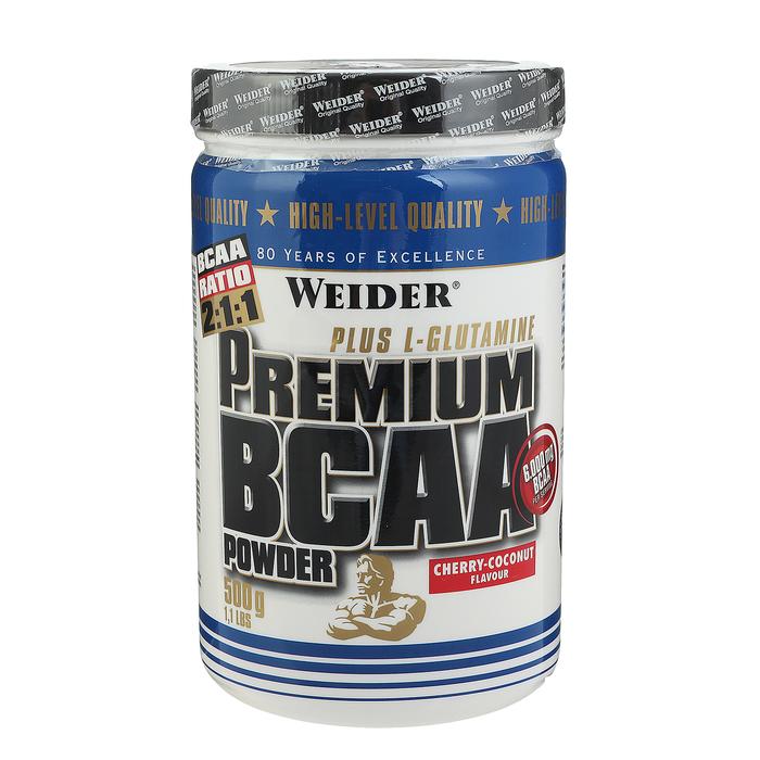 Аминокислоты Weider BCAA Powder Premium, вишня/кокос, 500 г