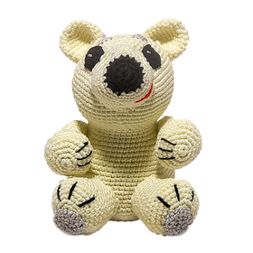 Набор для вязания игрушки 'Белый мишка Айсберг' 15*10 см Ош