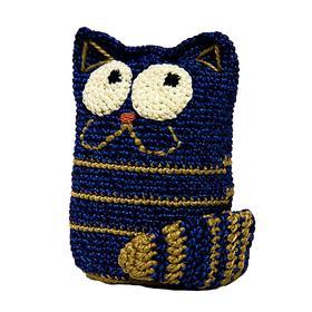 Набор для вязания игрушки 'Задумчивый котик Доцент' 13*10 см Ош