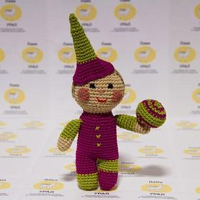 Набор для вязания игрушки 'Клоун Петрушка' 22*14 см Ош