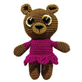 Набор для вязания игрушки 'Мишка в платьешке Машуня' 15*11 см Ош