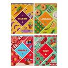 """Блокнот А5, 40 листов на гребне """"Цвет жизни"""", обложка мелованный картон, микс"""