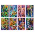 Блокнот А6, 32 листа Magic Flowers, обложка мелованный картон, глиттер микс
