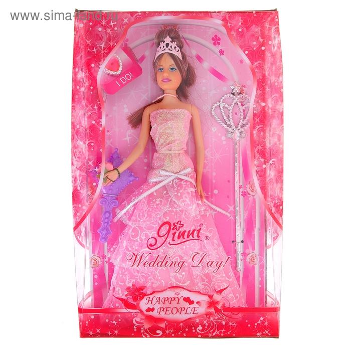 """Кукла """"Джинни принцесса"""" с волшебной палочкой, МИКС"""