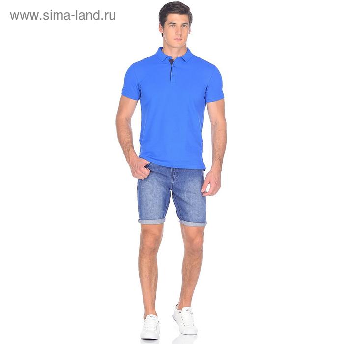 Шорты джинсовые мужские 10562, цвет тёмно-синий, р-р 48