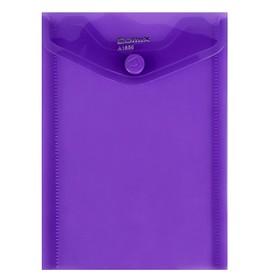 папка-конверт на кнопке А6 Comix вертик 156*115мм 180мкм  фиолетовый  А1856