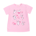 """Фуфайка для девочки """"Зайка на полянке"""", рост 98- 104 см (28), цвет светло-розовый Р100972"""