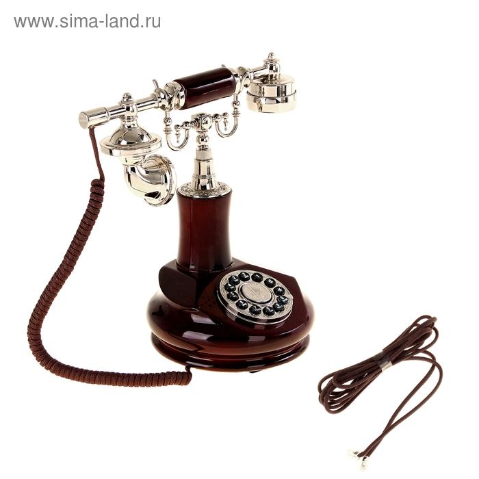 Ретротелефон стойка, цвет: вишнёвое дерево
