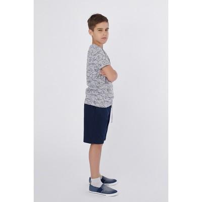 Комплект для мальчика (футболка, шорты), рост 158 см, цвет серый меланж