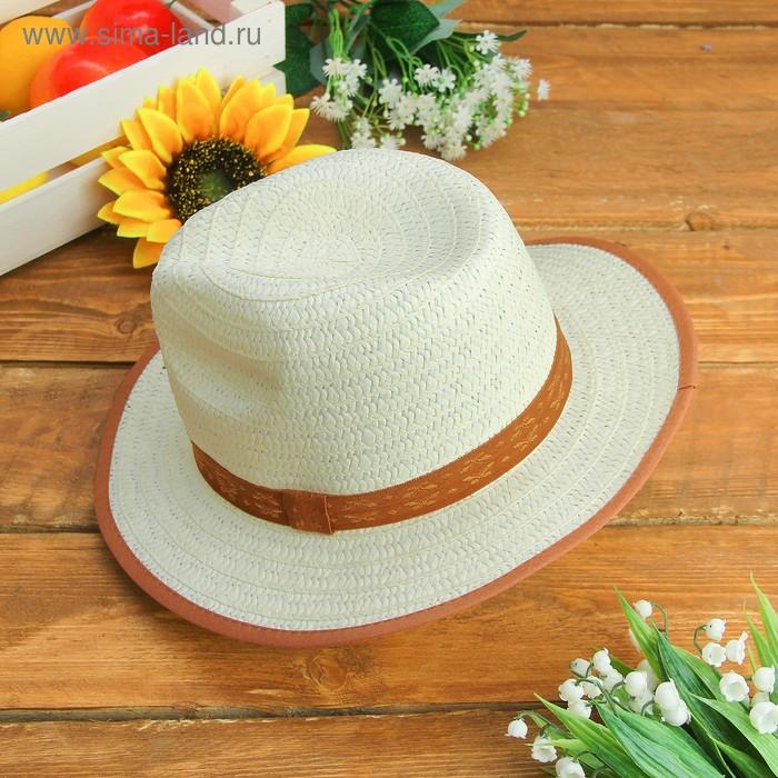 """Карнавальная шляпка детская """"Классик"""" р-р 50-52, коричневые поля"""