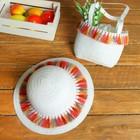 Набор сумочка и шляпка с кисточками р-р 50-52 см, цвет белый