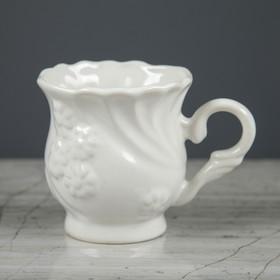 Чашка кофейная 'Белый лебедь' белая 0,1 л Ош