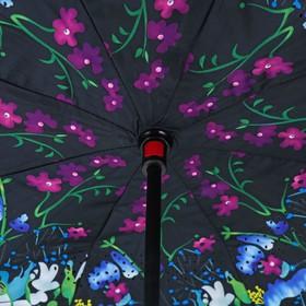 """Зонт наоборот """"Букет"""", R=58см, цвет чёрный"""