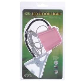 Лампа на прищепке 5xLED 'Абажур' USB розовый 6,7x7,7x36 см Ош