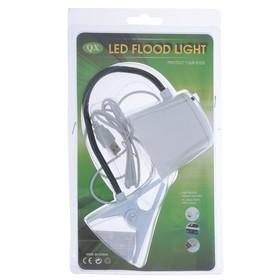 Лампа на прищепке 5xLED 'Абажур' USB белый 6,7x7,7x36 см Ош