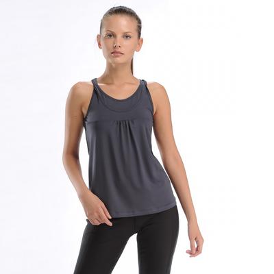 Майка женская (футболка) 021F34 цвет тёмно-серый, р-р 48 (L)