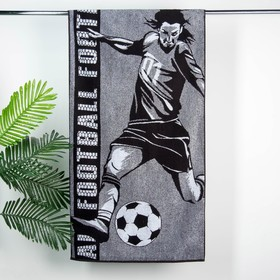 Полотенце махровое Этель 'Футболист' 70х130 см, 100% хл, 420 гр/м2 Ош
