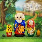 """Матрешка 5 кукольная """"Курочка Ряба""""  11 см"""
