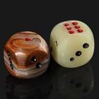Кубик игральный, 3,8 см, оникс