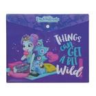 Папка-конверт на кнопке 180 мкм Mattel Enchantimals, для тетрадей, пластиковая