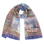Палантин текстильный PC3115_V2 цвет разноцветный, размер 90х180