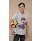 Футболка мужская OXO-0058-001 цвет белый, р-р 44