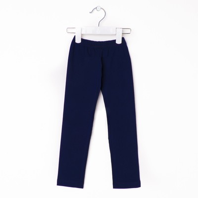 Брюки(легинсы) для девочки, рост 128 см, цвет синий 421/1