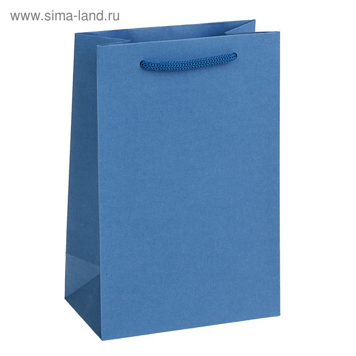 Пакет подарочный голубой, 14 х 9 х 21 см