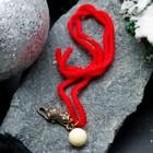 """Браслет-оберег """"Красная нить. Мышка с шариком"""" с подвеской, янтарь"""