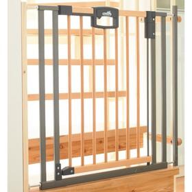 Ворота безопасности Geuther Easylock Wood 80,5-88,5 х 81,5 см, натуральный/серебро Ош