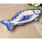 Лоток «Мечта», для рыбы, 22х39 см, гжель