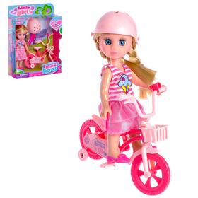 Кукла модная 'Лида' на велосипеде, с аксессуарами, МИКС Ош