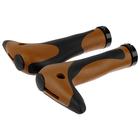 Грипсы-рога HL-G205, 150мм, цвет чёрно-коричневый