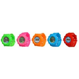 Часы наручные дет. электронные, с силик ремешком, классические, микс, 23см Ош