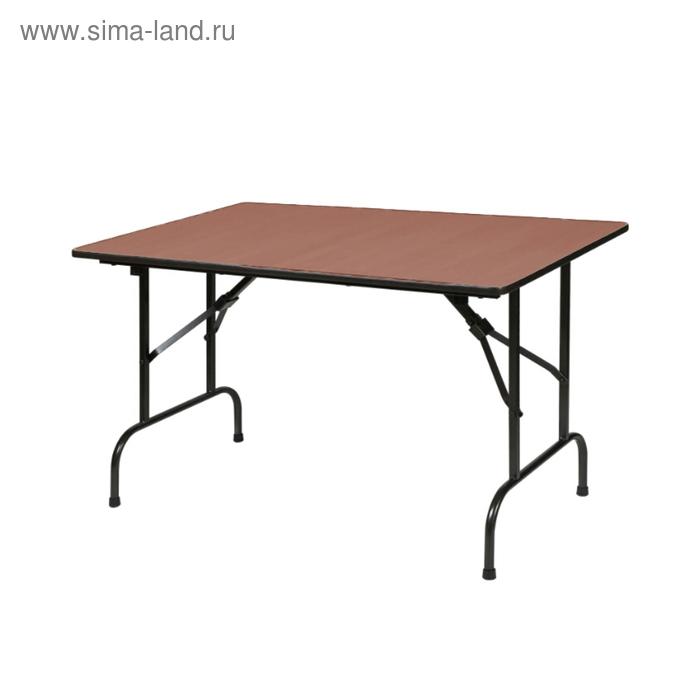 """Складной стол """"Лидер 1"""", 1500х900 мм, ножки чёрные, столешница орех"""