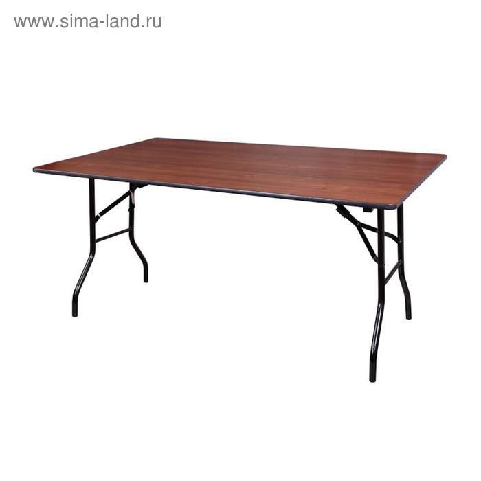 """Складной стол """"Лидер 2"""", 2000х900 мм, ножки чёрные, столешница орех"""