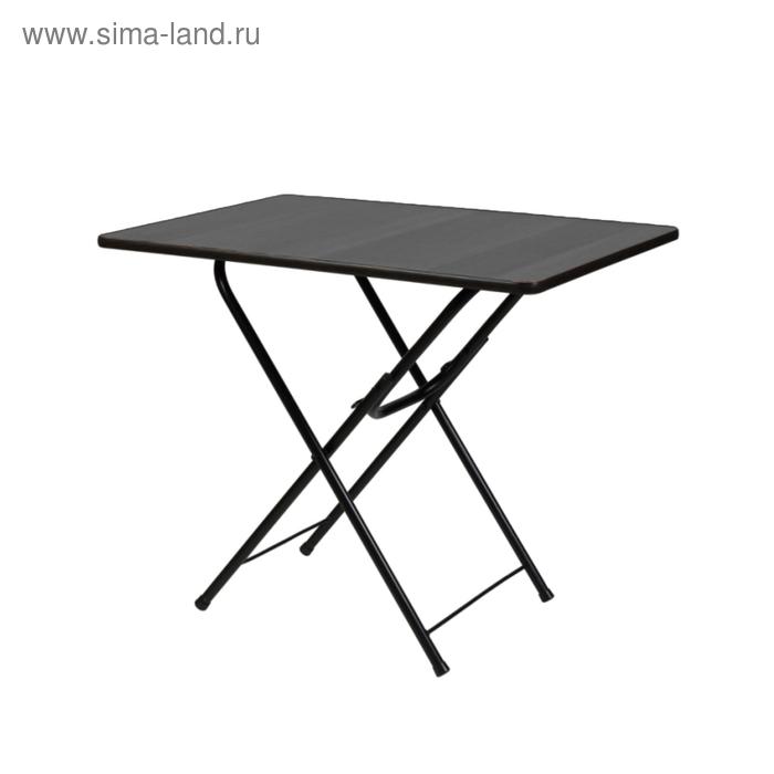 """Складной стол """"Лидер 6"""", 700х700 мм, ножки чёрные, столешница венге"""
