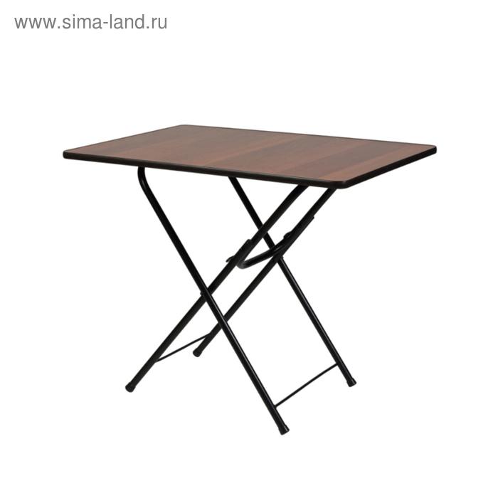 """Складной стол """"Лидер 6"""", 700х700 мм, ножки чёрные, столешница орех"""