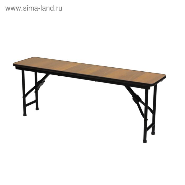 """Складная скамья """"Лидер 8"""", 1200х300 мм, ножки чёрные, столешница вишня"""