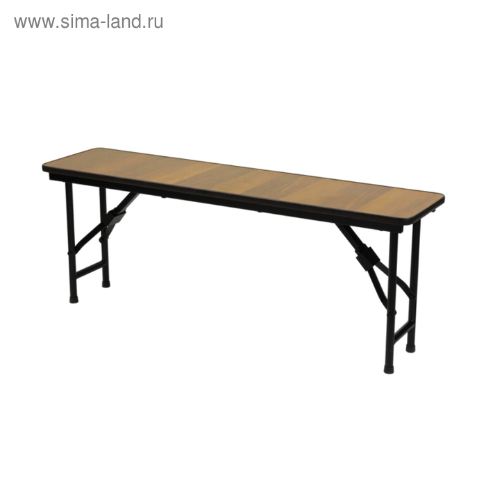 """Складная скамья """"Лидер 8"""", 1500х300 мм, ножки чёрные, столешница бук"""