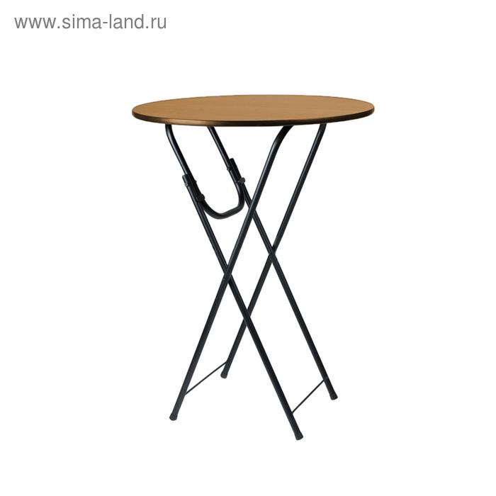 """Складной стол """"Лидер 9"""", диаметр 800 мм, ножки чёрные, столешница бук"""