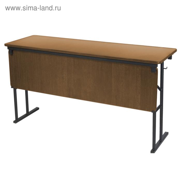 """Складной стол с передней стенкой """"Лидер 10"""", 1200х500 мм, ножки чёрные, столешница вишня"""