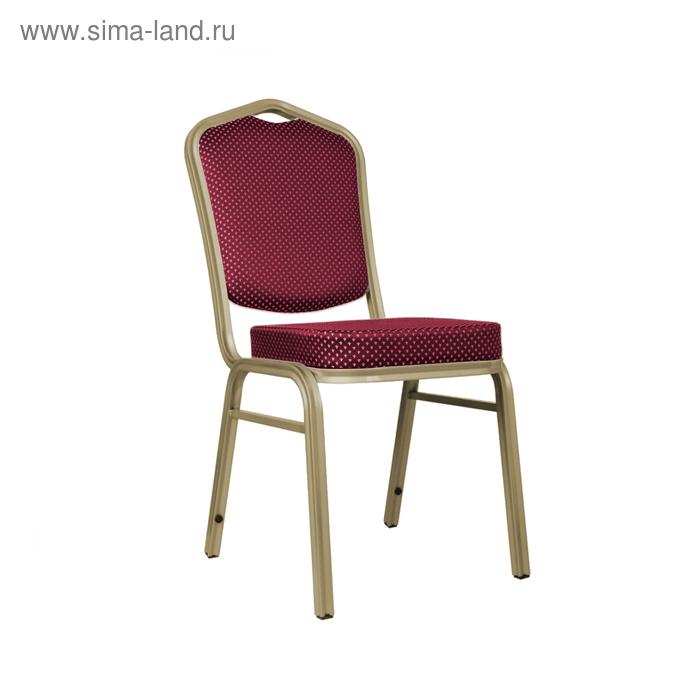 Банкетный стул 20 мм, каркас шампань, обивка корона красная