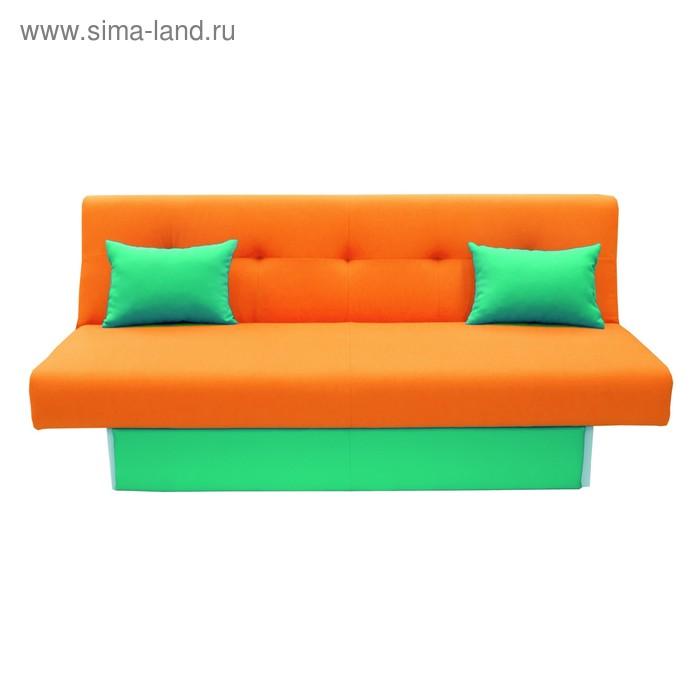 Диван Манго 4 Оранж, панель/подушки Зеленый