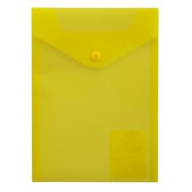 Папка-конверт А5 Proff, на кнопке, 0.18 мм, прозрачная жёлтая Ош