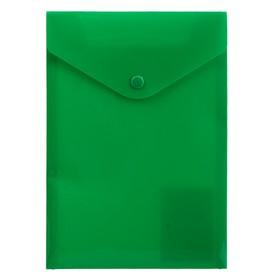 Папка-конверт А5 Proff, на кнопке, 0.18 мм, прозрачная зелёная Ош