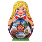 """Доска сувенирная матрёшка """"Девочка с мячом. Самара"""", 14,9х23см"""